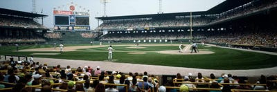 Cellular Field iCanvasART 3-Piece High Angle View of a Baseball Stadium Illinois Chicago USA Canvas Print by Panoramic Images Cook County 1.5 by 48 by 16-Inch U.S