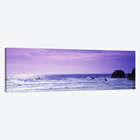 Seascape With A Violet Sky, Mendocino County, California, USA Canvas Print #PIM6473} by Panoramic Images Canvas Print