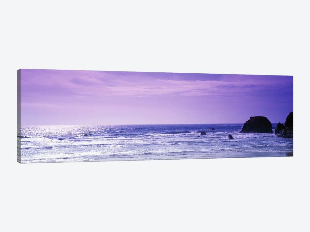 Seascape With A Violet Sky, Mendocino County, California, USA by Panoramic Images 1-piece Art Print