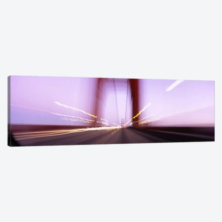 Traffic on a suspension bridge, Golden Gate Bridge, San Francisco, California, USA Canvas Print #PIM6478} by Panoramic Images Art Print
