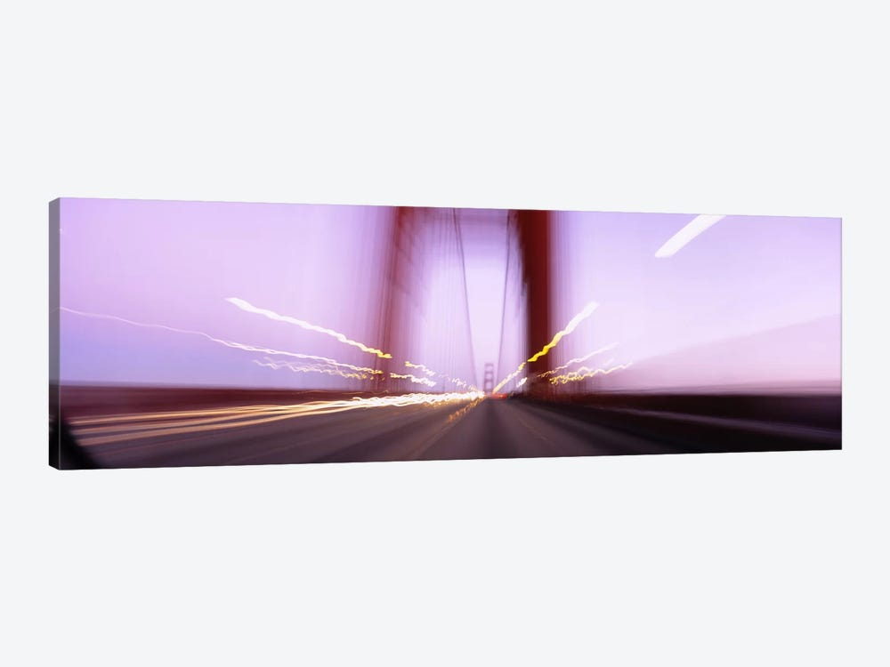 Traffic on a suspension bridge, Golden Gate Bridge, San Francisco, California, USA by Panoramic Images 1-piece Canvas Wall Art