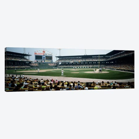 Spectators watching a baseball match in a stadiumU.S. Cellular Field, Chicago, Cook County, Illinois, USA Canvas Print #PIM647} by Panoramic Images Art Print