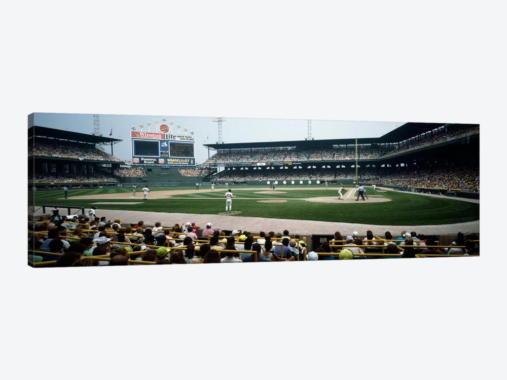 Spectators watching a baseball match in a stadiumU.S. Cellular Field, Chicago, Cook County, Illinois, USA by Panoramic Images 1-piece Canvas Art Print