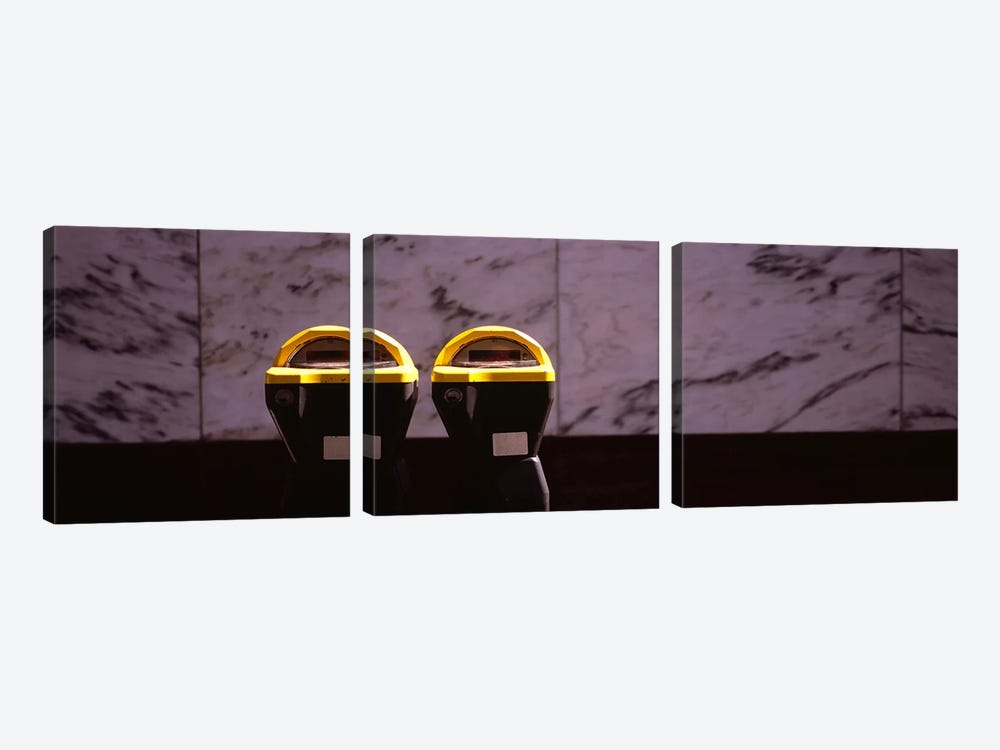 Close-Up Of Two Expired Parking Meters, San Francisco, California, USA by Panoramic Images 3-piece Canvas Artwork