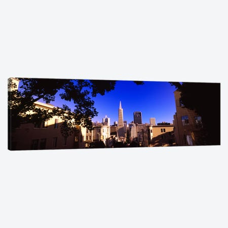 Buildings in a city, Telegraph Hill, Transamerica Pyramid, San Francisco, California, USA Canvas Print #PIM6484} by Panoramic Images Canvas Art Print