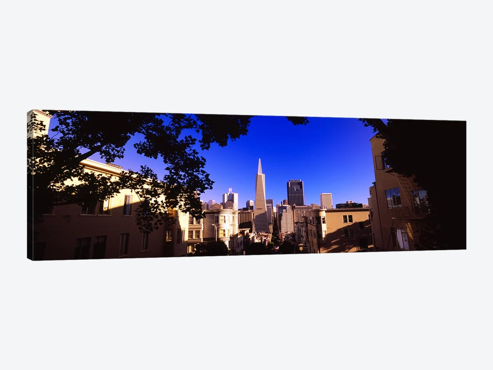 Buildings in a city, Telegraph Hill, Transamerica Pyramid, San Francisco, California, USA by Panoramic Images 1-piece Canvas Print