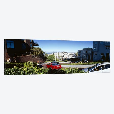 Cars on a street, Lombard Street, San Francisco, California, USA Canvas Print #PIM6485} by Panoramic Images Canvas Print