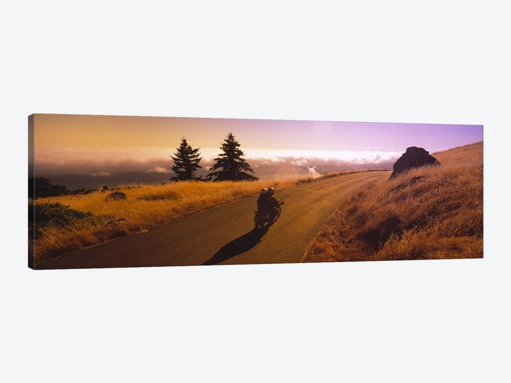 Motorcycle On Mount Tamalpais, Marin County, California, USA by Panoramic Images 1-piece Art Print