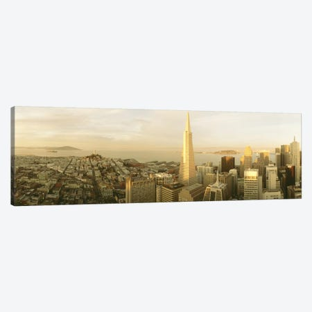 Aerial View (ft. Transamerica Pyramid), San Francisco, California, USA Canvas Print #PIM648} by Panoramic Images Canvas Art