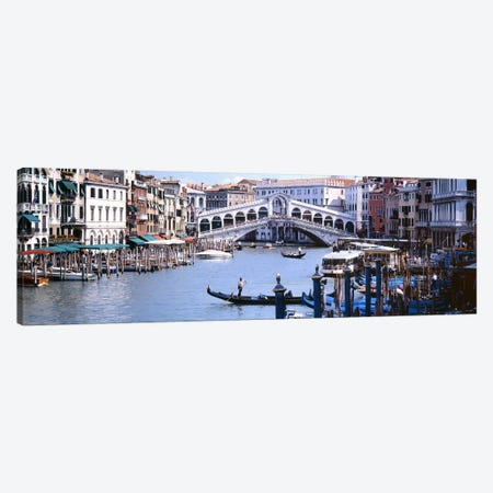 Rialto Bridge, Grand Canal, Venice, Veneto, Italy Canvas Print #PIM6490} by Panoramic Images Canvas Art Print