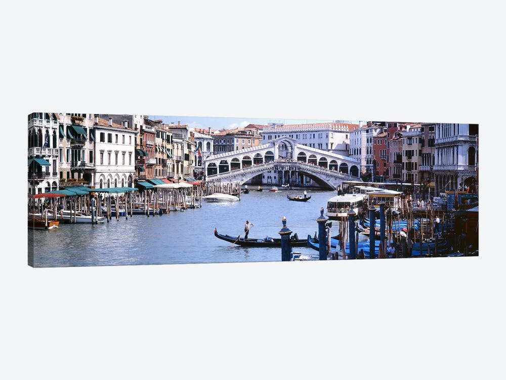 Rialto Bridge, Grand Canal, Venice, Veneto, Italy by Panoramic Images 1-piece Canvas Art