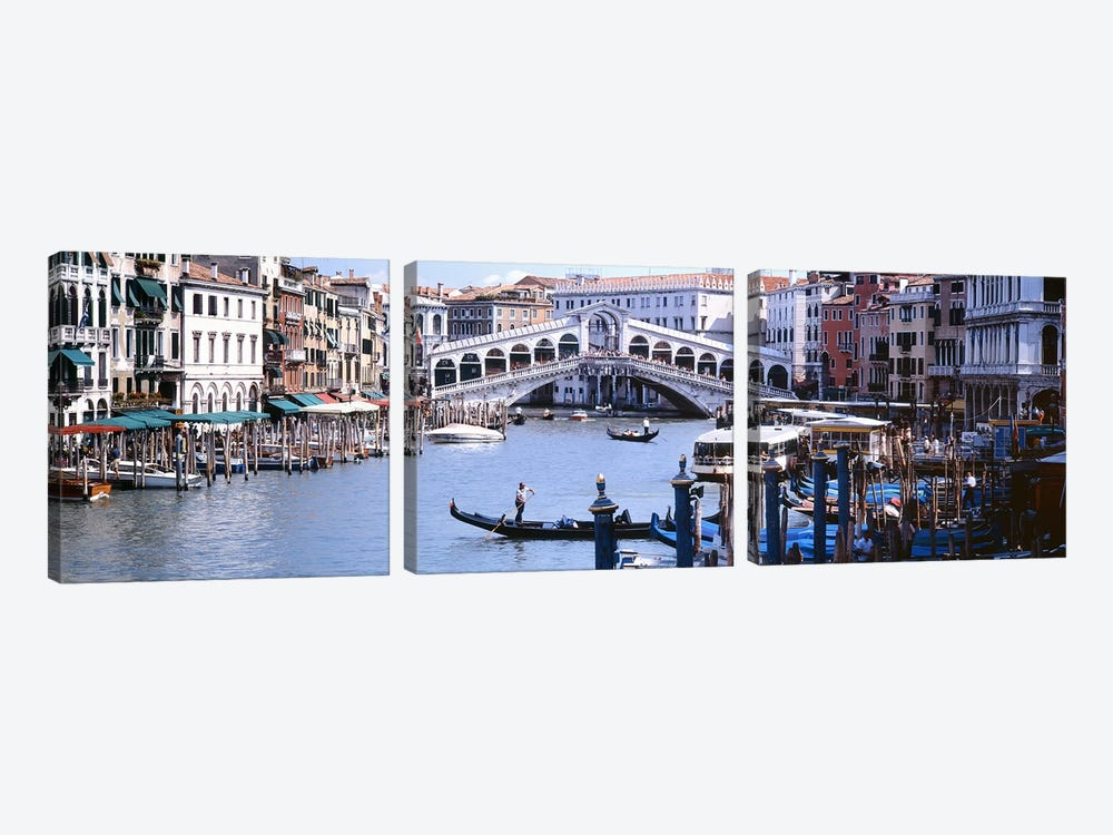 Rialto Bridge, Grand Canal, Venice, Veneto, Italy by Panoramic Images 3-piece Canvas Art