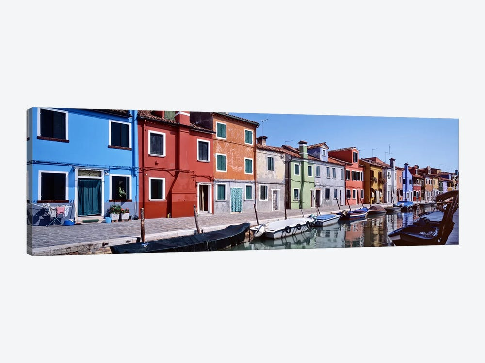 Houses at the waterfront, Burano, Venetian Lagoon, Venice, Italy by Panoramic Images 1-piece Canvas Art Print