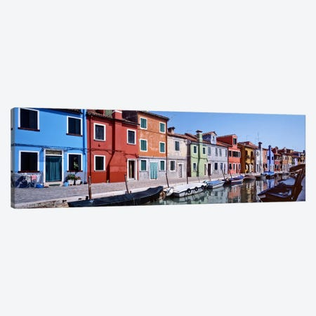 Houses at the waterfront, Burano, Venetian Lagoon, Venice, Italy Canvas Print #PIM6491} by Panoramic Images Canvas Art Print