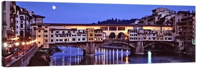 Ponte Vecchio At Night, Florence, Tuscany, Italy Canvas Print #PIM6492