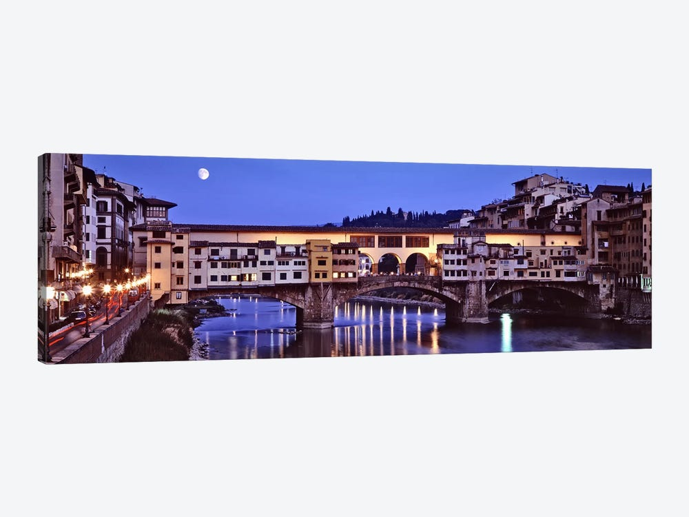 Ponte Vecchio At Night, Florence, Tuscany, Italy by Panoramic Images 1-piece Canvas Artwork