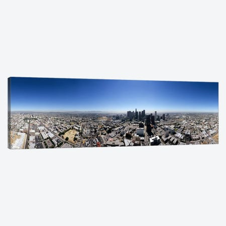 360 degree view of a cityCity of Los Angeles, Los Angeles County, California, USA Canvas Print #PIM6497} by Panoramic Images Canvas Wall Art