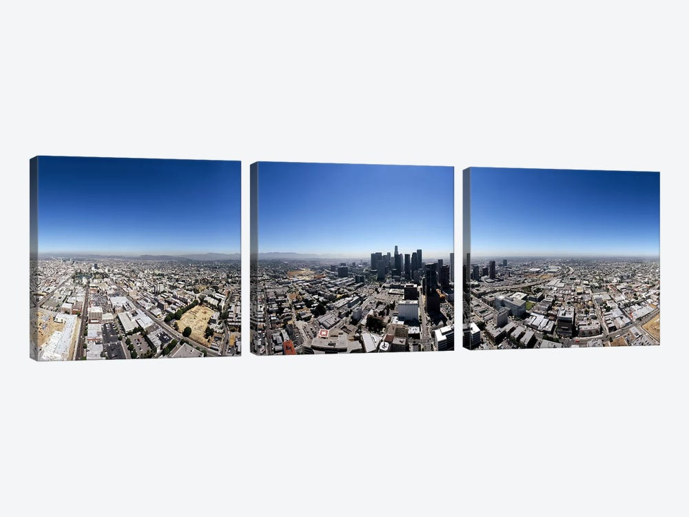 360 degree view of a cityCity of Los Angeles, Los Angeles County, California, USA by Panoramic Images 3-piece Canvas Art Print