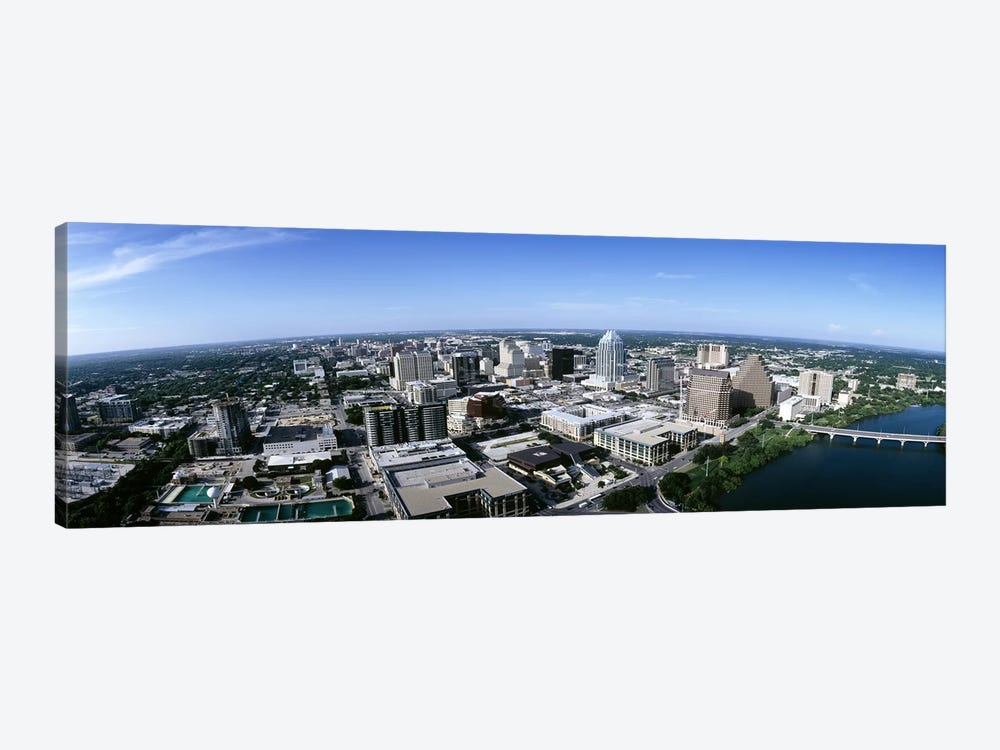 Aerial view of a cityAustin, Travis County, Texas, USA by Panoramic Images 1-piece Canvas Art