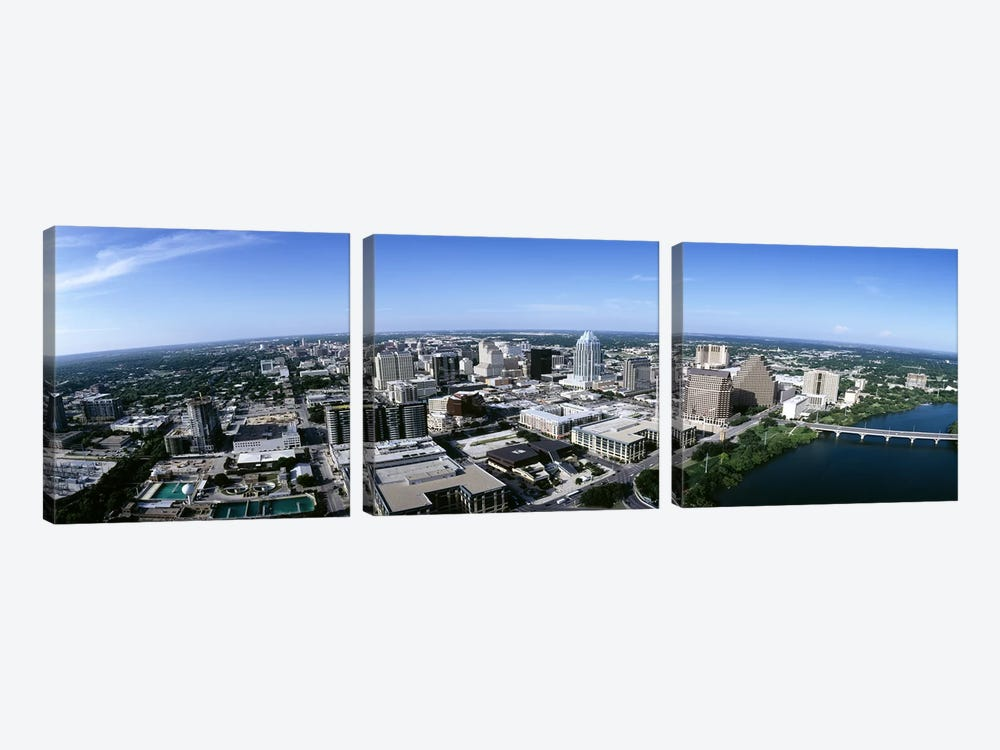 Aerial view of a cityAustin, Travis County, Texas, USA by Panoramic Images 3-piece Canvas Wall Art
