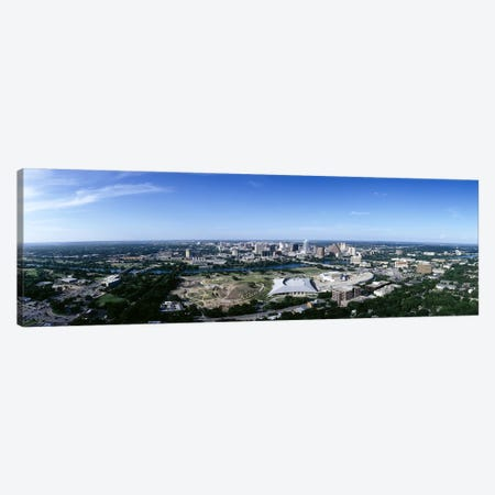 Aerial view of a cityAustin, Travis County, Texas, USA Canvas Print #PIM6499} by Panoramic Images Canvas Print