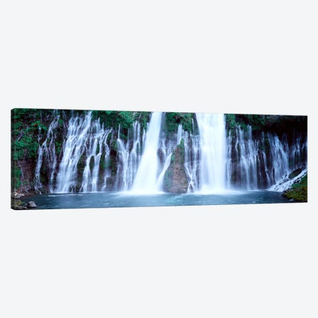 Burney Falls, McArthur-Burney Falls Memorial State Park, Shasta County, California, USA Canvas Print #PIM649} by Panoramic Images Canvas Artwork