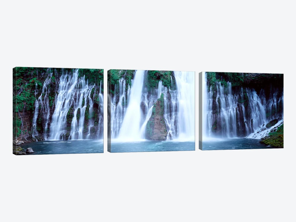 Burney Falls, McArthur-Burney Falls Memorial State Park, Shasta County, California, USA by Panoramic Images 3-piece Art Print