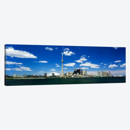 Dowtown Skyline As Seen From Lake Ontario, Toronto, Ontario, Canada Canvas Print #PIM64} by Panoramic Images Canvas Art Print
