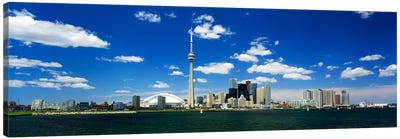 Dowtown Skyline As Seen From Lake Ontario, Toronto, Ontario, Canada Canvas Art Print