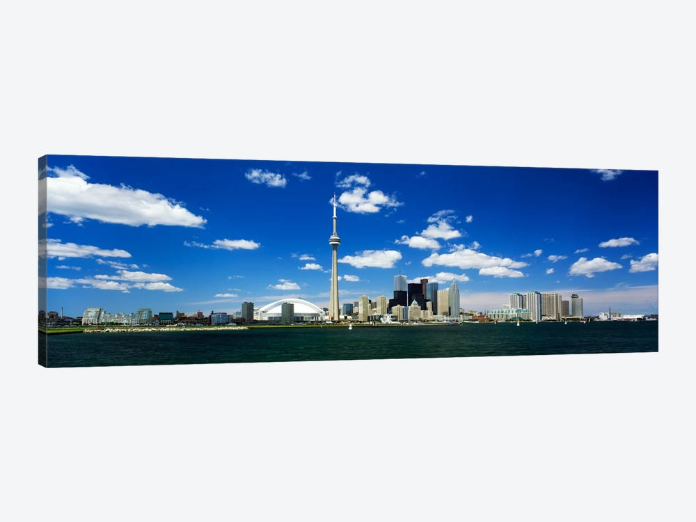 Dowtown Skyline As Seen From Lake Ontario, Toronto, Ontario, Canada by Panoramic Images 1-piece Canvas Artwork