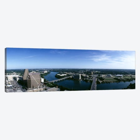 High angle view of a river passing through a cityAustin, Texas, USA Canvas Print #PIM6500} by Panoramic Images Canvas Print