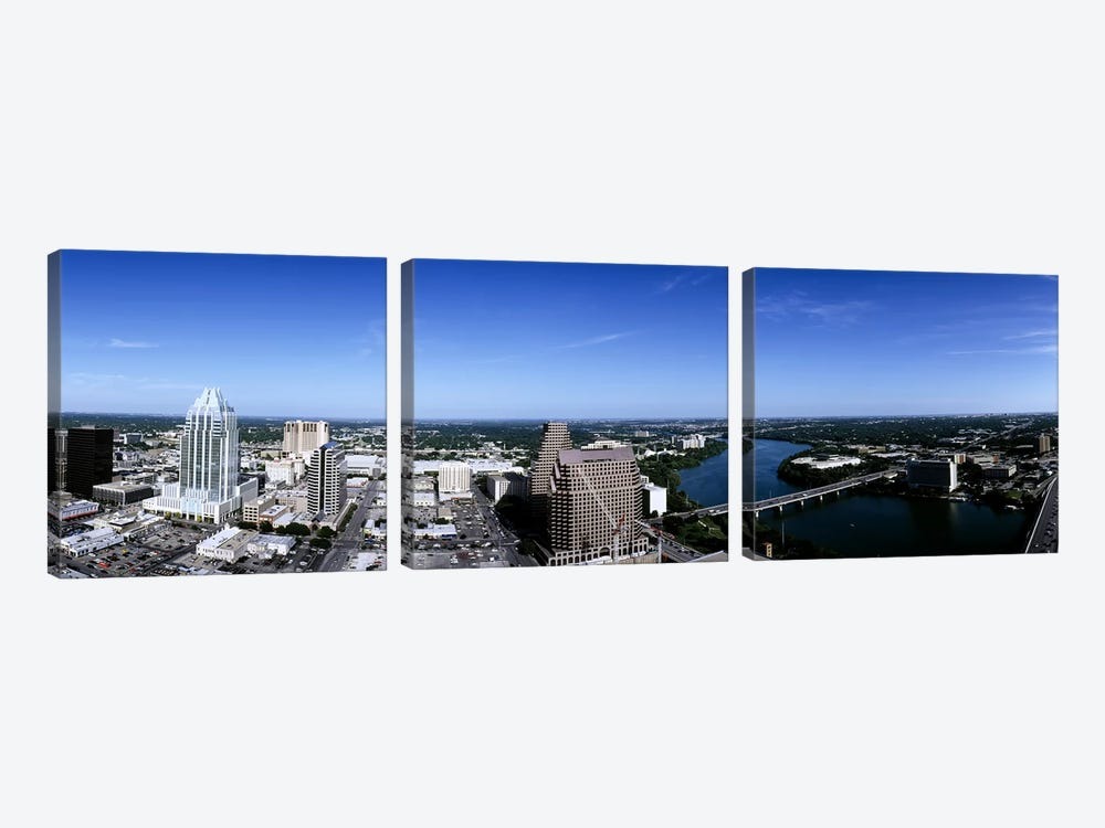 Aerial view of a cityAustin, Travis County, Texas, USA by Panoramic Images 3-piece Art Print