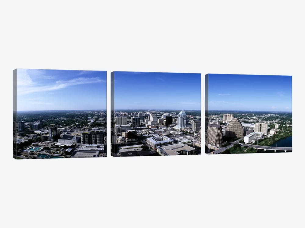 High angle view of a cityAustin, Texas, USA by Panoramic Images 3-piece Canvas Art