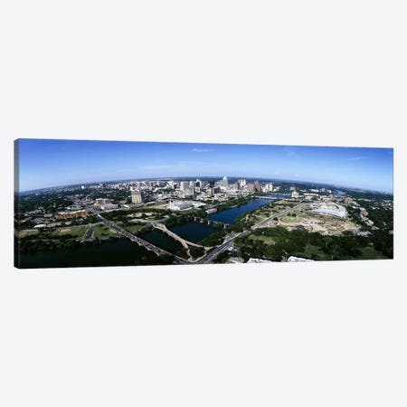 Aerial view of a cityAustin, Travis County, Texas, USA Canvas Print #PIM6503} by Panoramic Images Art Print