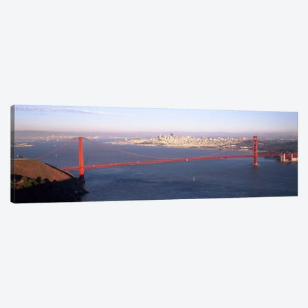 High angle view of a suspension bridge across the seaGolden Gate Bridge, San Francisco, Marin County, California, USA Canvas Print #PIM6508} by Panoramic Images Art Print