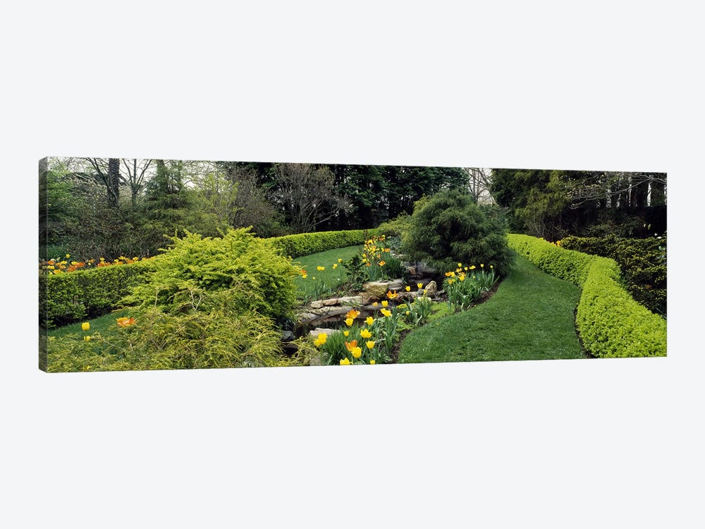 Hedge in a formal gardenLadew Topiary Gardens, Monkton, Baltimore County, Maryland, USA by Panoramic Images 1-piece Canvas Print