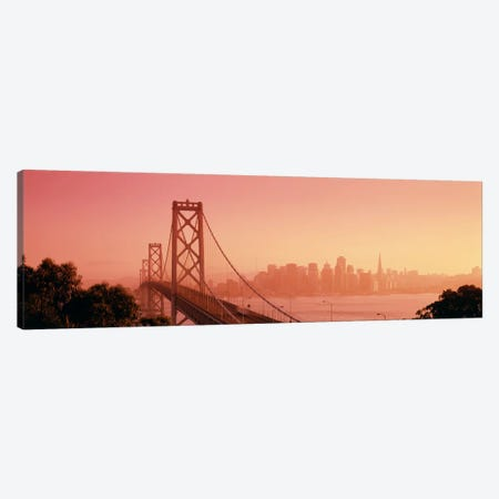 Bay BridgeSkyline, City, San Francisco, California, USA Canvas Print #PIM651} by Panoramic Images Canvas Art Print