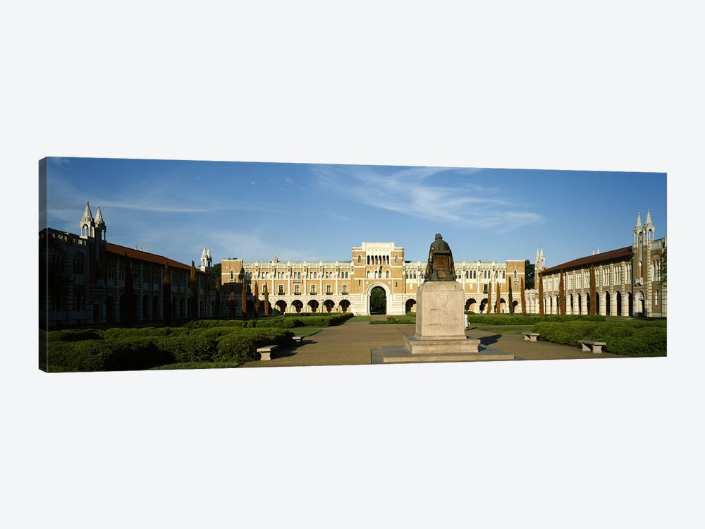 Statue in the courtyard of an educational buildingRice University, Houston, Texas, USA by Panoramic Images 1-piece Canvas Art Print