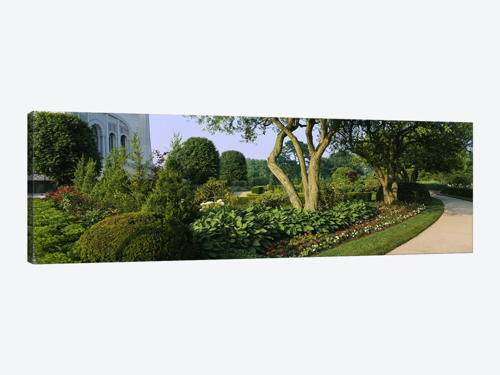 Garden Landscape, Baha'i House Of Worship, Wilmette, New Trier Township, Cook County, Illinois, USA by Panoramic Images 1-piece Art Print