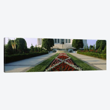 Formal Garden At Main Entrance, Baha'i House Of Worship, Wilmette, New Trier Township, Chicago, Cook County, Illinois, USA Canvas Print #PIM6535} by Panoramic Images Art Print