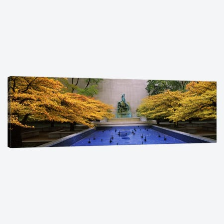 Fountain in a gardenFountain of The Great Lakes, Art Institute of Chicago, Chicago, Cook County, Illinois, USA Canvas Print #PIM6537} by Panoramic Images Canvas Art Print