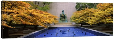 Fountain in a gardenFountain of The Great Lakes, Art Institute of Chicago, Chicago, Cook County, Illinois, USA Canvas Print #PIM6537