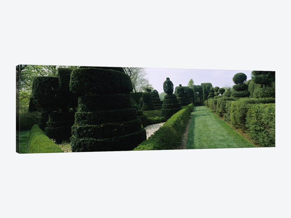 Sculptures formed from trees and plants in a garden, Ladew Topiary Gardens, Monkton, Baltimore County, Maryland, USA by Panoramic Images 1-piece Canvas Wall Art