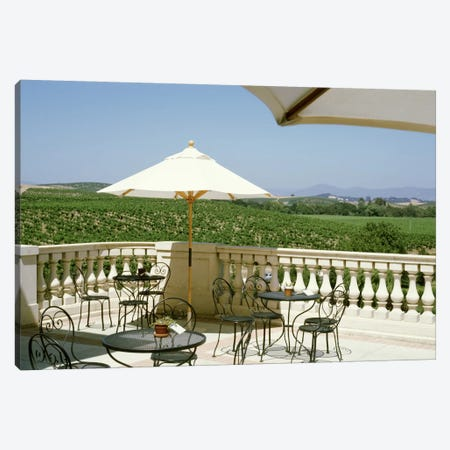 Vineyards Terrace at Winery Napa Valley CA USA Canvas Print #PIM653} by Panoramic Images Art Print