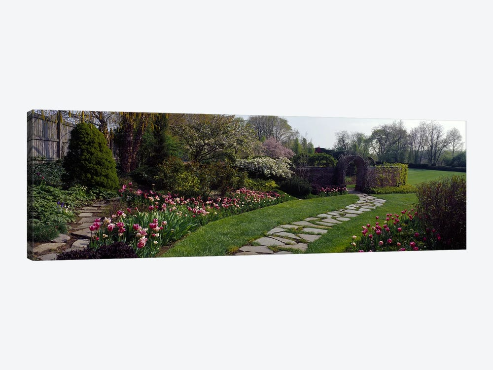 Flowers in a garden, Ladew Topiary Gardens, Monkton, Baltimore County, Maryland, USA by Panoramic Images 1-piece Canvas Wall Art