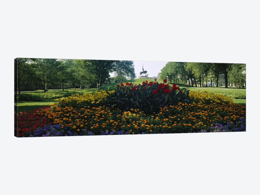 Flowers in a park, Grant Park, Chicago, Cook County, Illinois, USA by Panoramic Images 1-piece Art Print