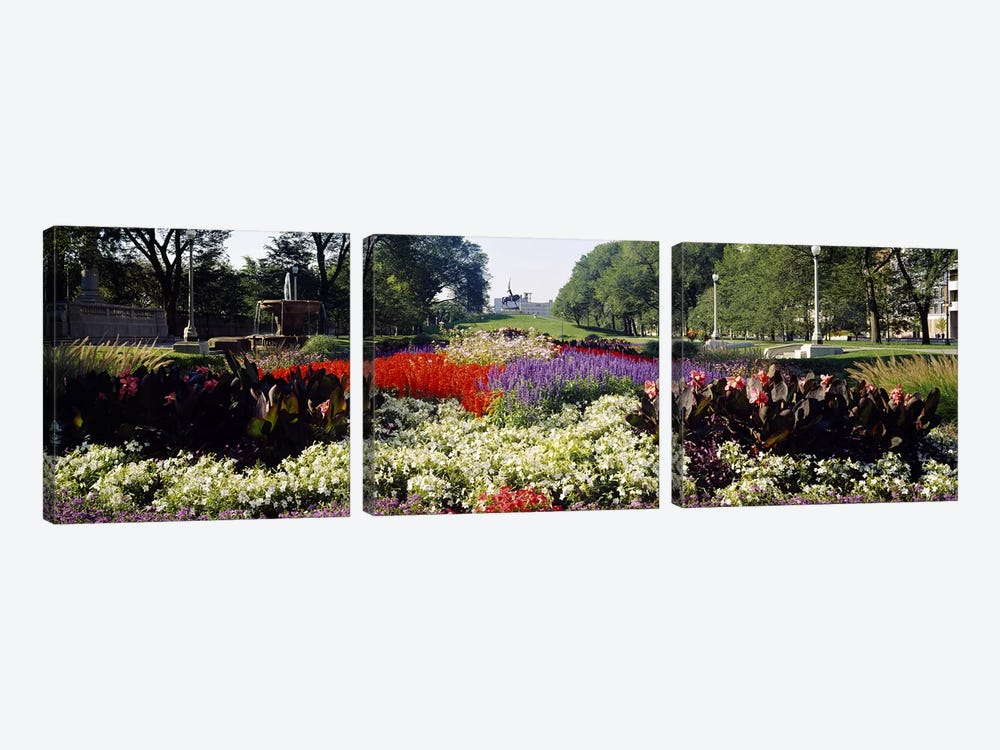 Grant Park, Chicago, Illinois, USA by Panoramic Images 3-piece Canvas Artwork