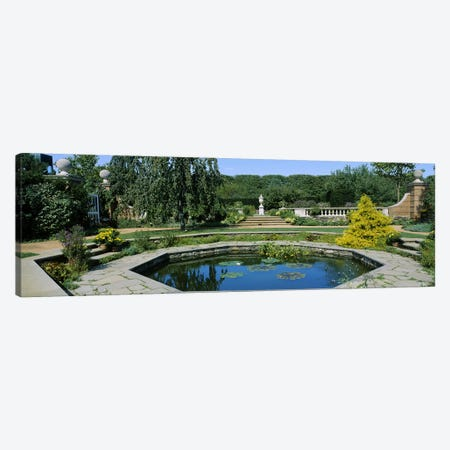 Garden Pond, English Walled Garden, Chicago Botanic Garden, Glencoe, Cook County, Illinois, USA Canvas Print #PIM6548} by Panoramic Images Canvas Print