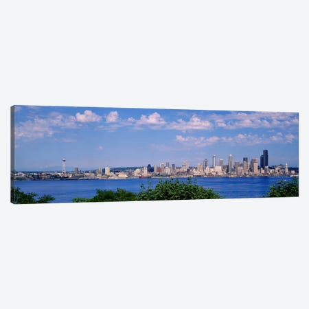 Puget SoundCity Skyline, Seattle, Washington State, USA Canvas Print #PIM654} by Panoramic Images Canvas Wall Art