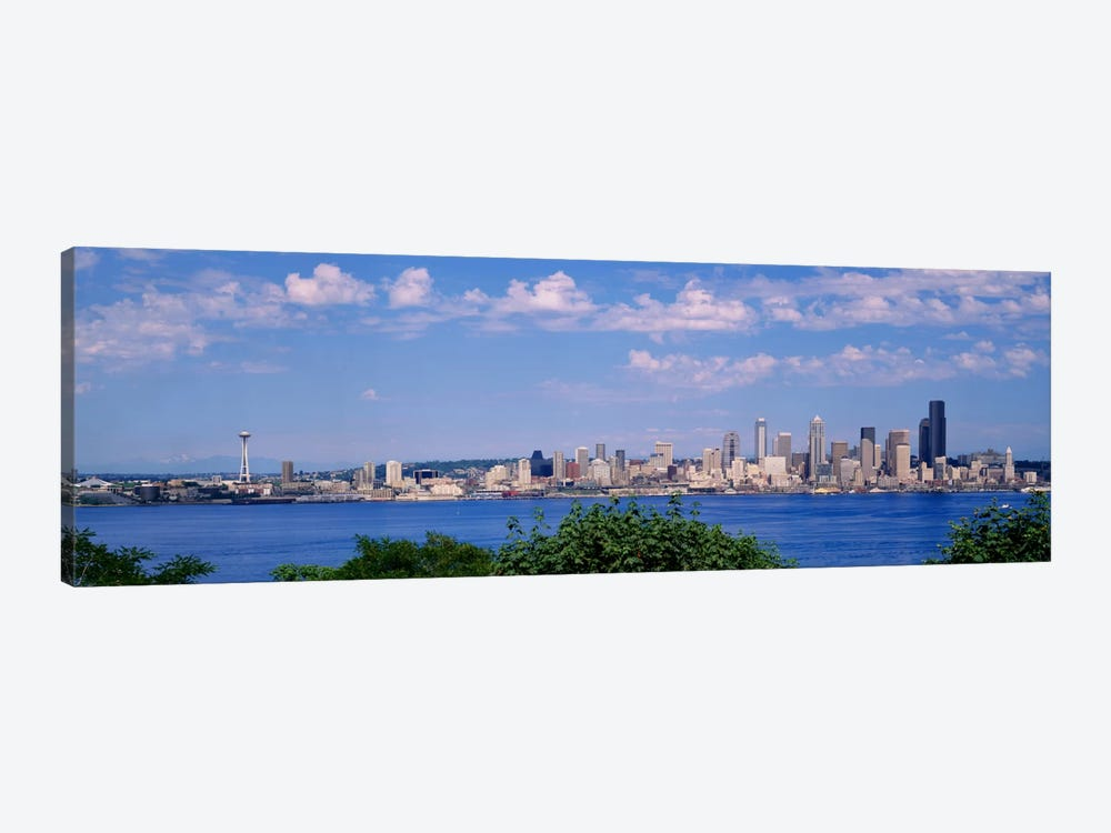 Puget SoundCity Skyline, Seattle, Washington State, USA by Panoramic Images 1-piece Canvas Print